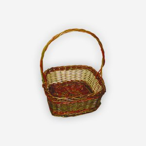 "Wicker basket ""ECO"", plaited, square"