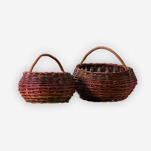 Egg basket, plaited, round