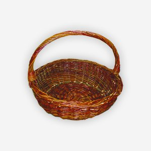 "Wicker basket ""HAIKE"", plaited, round"