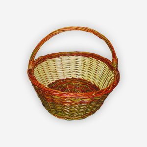 "Wicker basket ""RUSTICA"", plaited, round"