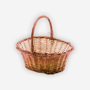 "Wicker basket ""SISI"", plaited, oval"