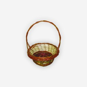 "Wicker basket ""TINA"", plaited, round"