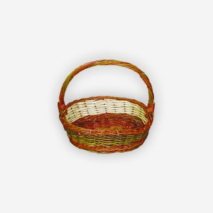 "Wicker basket ""TULPE"", plaited, oval"