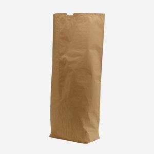 Cross bottom bag 25 kg, brown natural