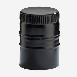 Screw cap without screw thread ø31,5/H44mm, black