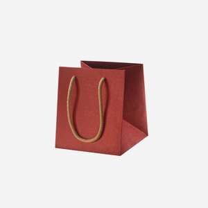 Gift carrier bag, red, without window