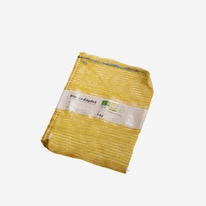 "Net sack, yellow with pull cable, ""Bio Austria"""