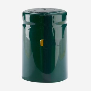 Shrink capsule ø32,8 x H50mm, shiny dark green