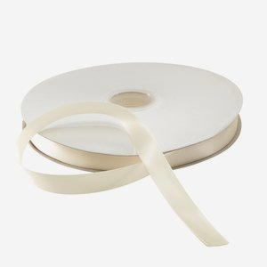 Satin ribbon cream, suitable for hot-foil stamping