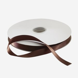 Satin ribbon brown, suitable for hot-foil stamping