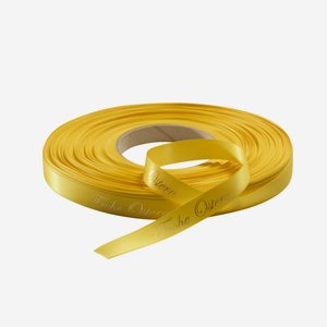 Satin ribbon yellow,suitable for hot-foil stamping