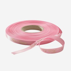 """Satin ribbon pink, lettering """"Frohe Ostern"""""""