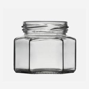 Hexagonal jar 106ml, white, wide mouth: TO 53