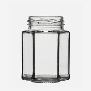 Hexagonal jar 116ml, white, wide mouth: TO 48