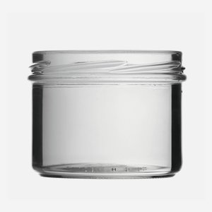 Straight Jar 225ml, white, wide mouth: TO 82