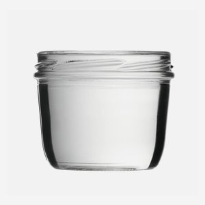 Straight Jar 230ml, white, wide mouth: TO 82
