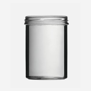 Straight Jar 435ml, white, wide mouth: TO 82