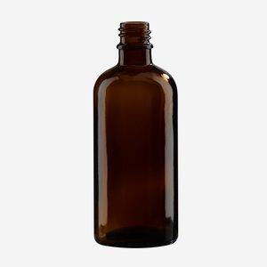 Dropper bottle 100ml, brown, finish: GL-18