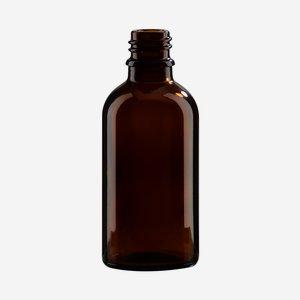 Dropper bottle 50ml, brown, finish: GL-18
