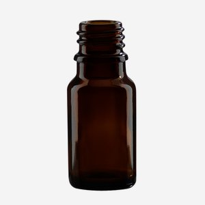 Dropper bottle 10ml, brown, finish: GL-18