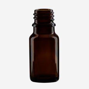 Dropper bottle 10ml, brown, finish: GL-18