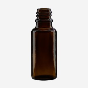 Dropper bottle 20ml, brown, finish: GL-18