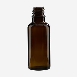 Dropper bottle 30ml, brown, finish: GL-18