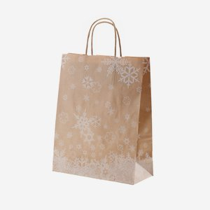 "Carrier bag ""Winter bag - Snow crystals"""