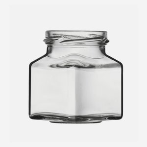 Square jar 140ml, white, wide mouth: TO 53