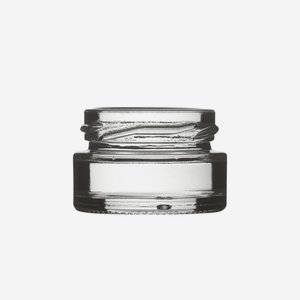 Cylindrical Jar 22ml, white, wide mouth: TO 43