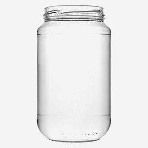 Cylindrical Jar 580ml, white, wide mouth: TO 70