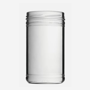 Cylindrical Jar 1053ml, white, wide mouth: TO 100