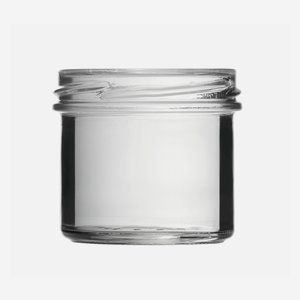 Cylindrical Jar 125ml, white, wide mouth: TO 66