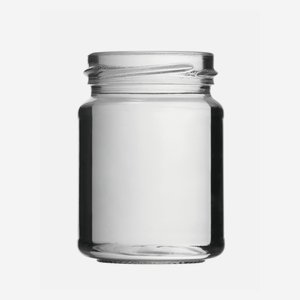 Cylindrical Jar 143ml, white, wide mouth: TO 53