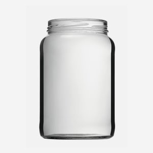 Cylindrical Jar 1700ml, white, wide mouth: TO 100