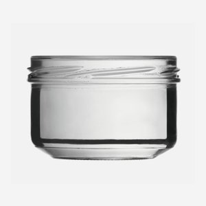 Cylindrical Jar 186ml, white, wide mouth: TO 82