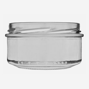 Cylindrical Jar 189ml, white, wide mouth: TO 82