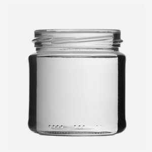 Cylindrical Jar 210ml, white, wide mouth: TO 66
