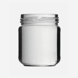 Cylindrical Jar 212ml, white, wide mouth: TO 63