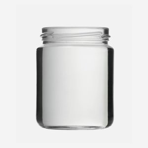Cylindrical Jar 275ml, white, wide mouth: TO 66