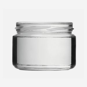 Cylindrical Jar 282ml, white, wide mouth: TO 82