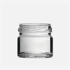 Cylindrical Jar 30ml, white, wide mouth: TO 43