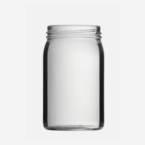 Cylindrical Jar 314ml, white, wide mouth: TO 63