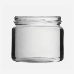 Cylindrical Jar 330ml, white, wide mouth: TO 82