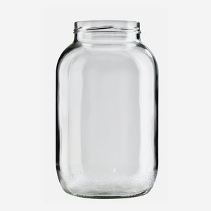 Cylindrical Jar 3400ml, white, wide mouth: TO 100