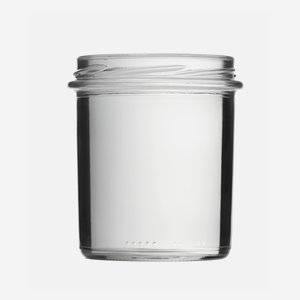 Cylindrical Jar 350ml, white, wide mouth: TO 82