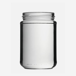 Cylindrical Jar 390ml, white, wide mouth: TO 70