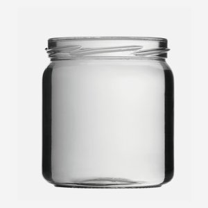 Cylindrical Jar 405ml, white, wide mouth: TO 82