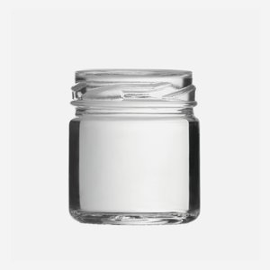Cylindrical Jar 41ml, white, wide mouth: TO 43