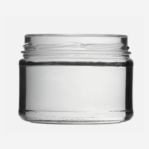Cylindrical Jar 540ml, white, wide mouth: TO 100